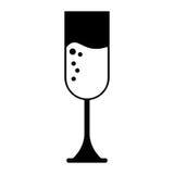 Silhouette cup glass champagne love celebration Stock Photo