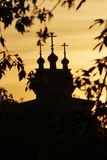 Wooden Saint George Church in Kolomenskoe, Moscow royalty free stock photo