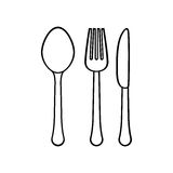 silhouette cutlery icon image design Royalty Free Stock Photo
