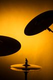 Silhouette of Cymbal Set Stock Photos