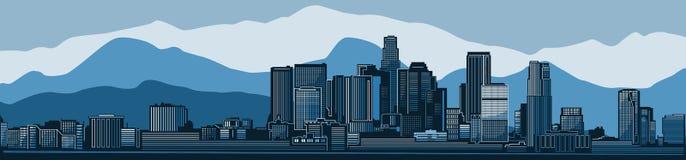 Silhouette détaillée d'horizon de ville de Los Angeles Illustration de vecteur illustration libre de droits