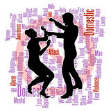 Silhouette d'abus de violence familiale Photo stock