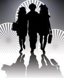 Silhouette d'achats Images libres de droits
