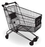 silhouette d'achats de chariot Images stock