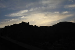 Silhouette d'Amer Fort Photographie stock