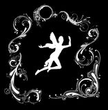 Silhouette d'ange Image stock