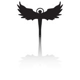 Silhouette d'ange avec l'ombre Photo stock