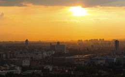 Silhouette d'Ankara Image stock