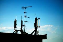 Silhouette d'antenne Image libre de droits