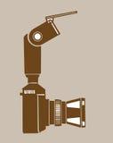 Silhouette d'appareil-photo illustration de vecteur