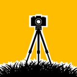 Silhouette d'appareil-photo Photo libre de droits