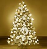 Silhouette d'arbre de Noël Photographie stock