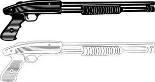 Silhouette d'arme à feu Images libres de droits