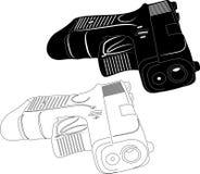 Silhouette d'arme à feu Image stock