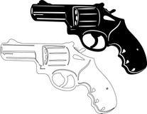Silhouette d'arme à feu Photographie stock libre de droits