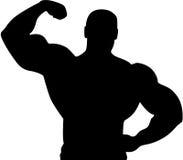 Silhouette d'athlète illustration de vecteur