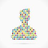 Silhouette d'avatar Images libres de droits