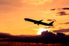 Silhouette d'avion Photo libre de droits
