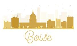 Silhouette d'or d'horizon de Boise City Photo stock