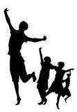 silhouette d'enfants Images libres de droits