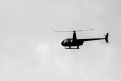 Silhouette d'hélicoptère image libre de droits