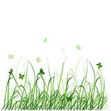 Silhouette d'herbe Images stock
