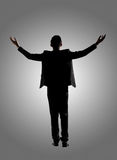 Silhouette d'homme d'affaires asiatique photos libres de droits