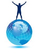 silhouette d'homme de la terre Photographie stock libre de droits
