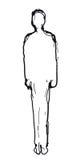 Silhouette d'homme (vecteur) illustration libre de droits