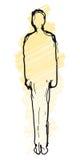 Silhouette d'homme (vecteur) illustration stock