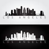Silhouette d'horizon de Los Angeles illustration de vecteur