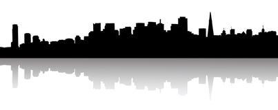Silhouette d'horizon de San Francisco Photographie stock