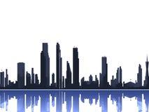 Silhouette d'horizon de ville Photographie stock libre de droits
