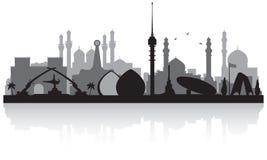 Silhouette d'horizon de ville de Bagdad Irak illustration stock