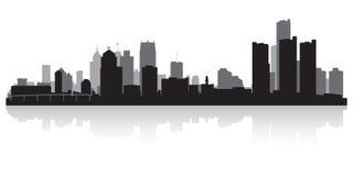 Silhouette d'horizon de ville de Detroit Michigan illustration libre de droits