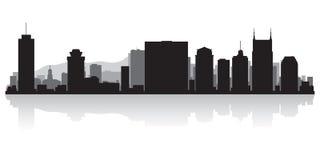 Silhouette d'horizon de ville de Nashville Tennessee illustration libre de droits