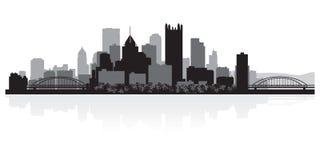 Silhouette d'horizon de ville de Pittsburgh Pennsylvanie illustration stock