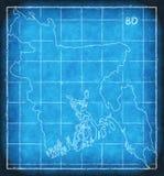 Silhouette d'illustration d'illustration de croquis de mise au point de carte du Bangladesh Photo stock