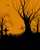 Silhouette d'illustration de Veille de la toussaint Photos stock