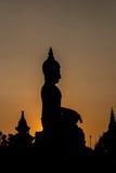 Silhouette d'image de Bouddha Photos stock