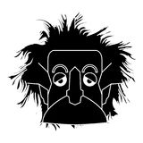 Silhouette d'isolement d'Einstein Image stock