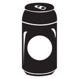 Silhouette d'isolement de canette de bière illustration de vecteur