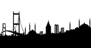 Silhouette d'Istanbul Image libre de droits