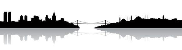 Silhouette d'Istanbul illustration libre de droits