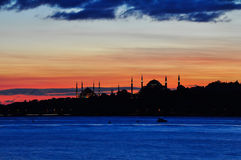 Silhouette d'Istanbul Image stock