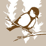 Silhouette d'oiseau illustration stock