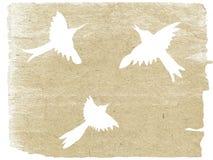 Silhouette d'oiseaux illustration libre de droits