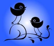 Silhouette d'oiseaux illustration stock