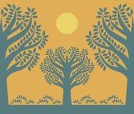 Silhouette d'un arbre illustration de vecteur