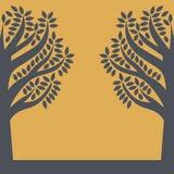 Silhouette d'un arbre illustration stock